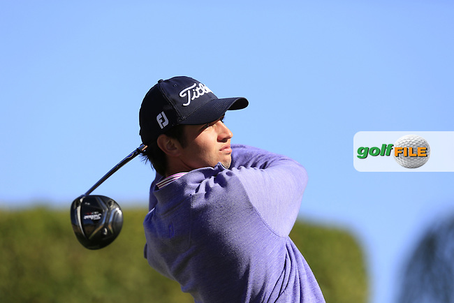 Sebastian Munoz (COL) tees off the 2nd tee during Saturday's Round 3 of the 2017 CareerBuilder Challenge held at PGA West, La Quinta, Palm Springs, California, USA.<br /> 21st January 2017.<br /> Picture: Eoin Clarke | Golffile<br /> <br /> <br /> All photos usage must carry mandatory copyright credit (&copy; Golffile | Eoin Clarke)