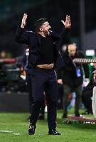 6th January 2020; Stadio San Paolo, Naples, Campania, Italy; Serie A Football, Napoli versus Inter Milan; Gennaro Gattuso coach of Napoli gets animated on the sideline