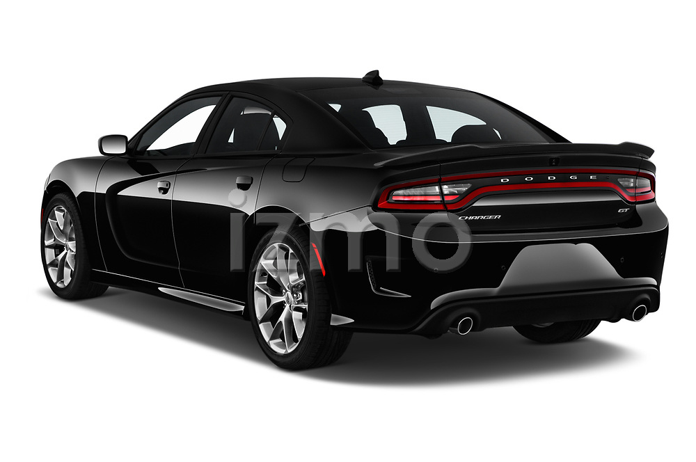 Car pictures of rear three quarter view of 2019 Dodge Charger GT 4 Door Sedan Angular Rear