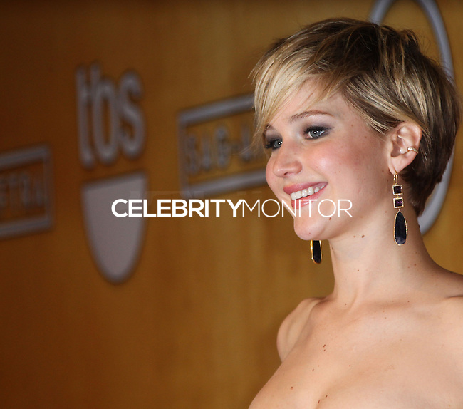 LOS ANGELES, CA - JANUARY 18: Jennifer Lawrence in the press room at the 20th Annual Screen Actors Guild Awards held at The Shrine Auditorium on January 18, 2014 in Los Angeles, California. (Photo by Xavier Collin/Celebrity Monitor)
