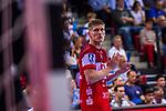 BOOMHOEWER, Jeffrey (#32 Bergischer HC) \ beim Spiel in der Handball Bundesliga, TVB 1898 Stuttgart - Bergischer HC.<br /> <br /> Foto © PIX-Sportfotos *** Foto ist honorarpflichtig! *** Auf Anfrage in hoeherer Qualitaet/Aufloesung. Belegexemplar erbeten. Veroeffentlichung ausschliesslich fuer journalistisch-publizistische Zwecke. For editorial use only.