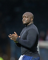 Adebayo Akinfenwa of Wycombe Wanderers applauds the supporters after the Sky Bet League 2 match between Wycombe Wanderers and Crawley Town at Adams Park, High Wycombe, England on 25 February 2017. Photo by Andy Rowland / PRiME Media Images.