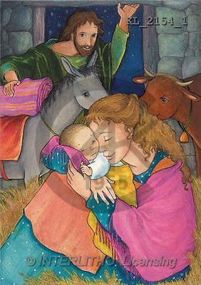 Interlitho, Soledad, CHRISTMAS CHILDREN, naive, paintings, Holy Family, stable(KL2154/1,#XK#) Weihnachten, Navidad, illustrations, pinturas