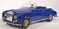 BNPS.co.uk (01202 558833)<br /> Pic: EastBristolAuctions/BNPS<br /> <br /> £2,200 - An incredibly rare vintage 1960's Tri-ang prototype Bentley S2 child's pedal car. <br />   <br /> Toy story...<br /> <br /> A remarkable lifetime collection of 30 vintage toy cars has emerged for sale for more than £65,000.<br /> <br /> The fleet of rare pedal cars were acquired over almost half a century by retired car garage owner David Worrow, 72.<br /> <br /> During their time with Mr Worrow they formed what was believed to be the biggest private collection of its kind in the world.