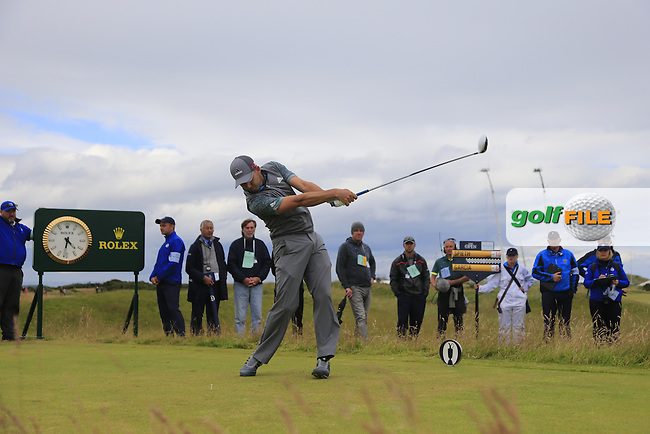 Sergio Garcia (ESP) tees off the 15th tee during Sunday's Round 3 of the 144th Open Championship, St Andrews Old Course, St Andrews, Fife, Scotland. 19/07/2015.<br /> Picture Eoin Clarke, www.golffile.ie