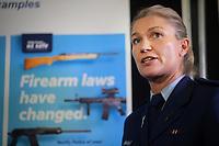 Penny Gifford (NZ Police). NZ gun buyback scheme. Trentham Racecourse in Upper Hutt, New Zealand on Thursday, 4 July 2019. Photo: Dave Lintott / lintottphoto.co.nz
