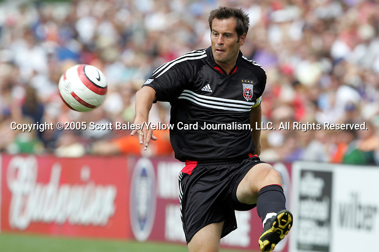 29 August 2005: Newly elected Hall of Famer and DC United Captain John Harkes. The Colorado Rapids defeated DC United 6-2 at At-A-Glance Field in Oneonta, New York in the 2005 Hall of Fame Game..