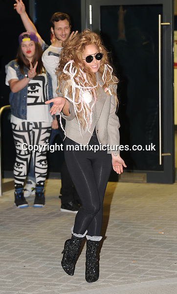 NON EXCLUSIVE PICTURE: PALACE LEE / MATRIXPICTURES.CO.UK<br /> PLEASE CREDIT ALL USES<br /> <br /> WORLD RIGHTS<br /> <br /> American &quot;Applause&quot; singer-songwriter and pop star Lady Gaga is spotted leaving a London studio.<br /> <br /> AUGUST 28th 2013<br /> <br /> REF: LTN 135734