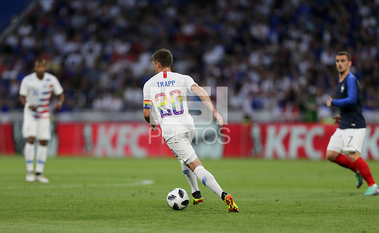 Lyon, France - Saturday June 09, 2018:  during an international friendly match between the men's national teams of the United States (USA) and France (FRA) at Groupama Stadium.