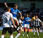 25.08.2019 St Mirren v Rangers: Scott Arfield tries a dink