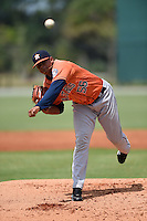 Houston Astros pitcher Junior Garcia (56) during a minor league spring training game against the Detroit Tigers on March 25, 2015 at Tiger Town in Lakeland, Florida.  (Mike Janes/Four Seam Images)