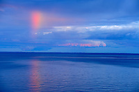Rainbow at sunset over Northumberland Strait <br /> Cap-Lumiere<br /> New Brunswick<br /> Canada