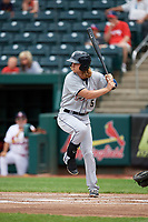 San Antonio Missions third baseman River Stevens (5) at bat during a game against the Springfield Cardinals on June 4, 2017 at Hammons Field in Springfield, Missouri.  San Antonio defeated Springfield 6-1.  (Mike Janes/Four Seam Images)