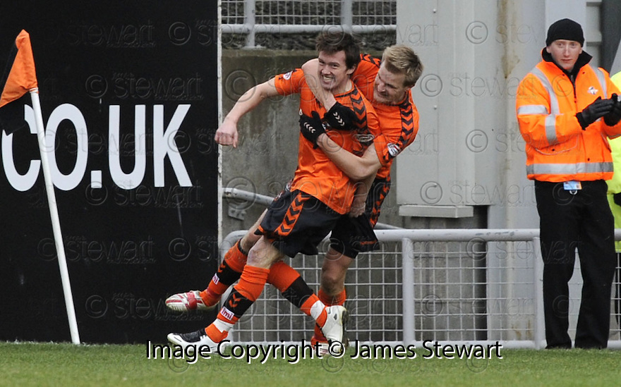 22/03/2008    Collect Pic: James Stewart.File Name : sct_jspa07_dundee_utd_v_motherwell.DANNY SWANSON IS CONGRATULATED BY CHRISTIAN KALVENES AFTER HE SCORES THE FIRST AFTER BEING ON THE PARK FOR JUST MINUTES.James Stewart Photo Agency 19 Carronlea Drive, Falkirk. FK2 8DN      Vat Reg No. 607 6932 25.Studio      : +44 (0)1324 611191 .Mobile      : +44 (0)7721 416997.E-mail  :  jim@jspa.co.uk.If you require further information then contact Jim Stewart on any of the numbers above........