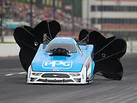 May 5, 2018; Commerce, GA, USA; NHRA funny car driver Bob Tasca III during qualifying for the Southern Nationals at Atlanta Dragway. Mandatory Credit: Mark J. Rebilas-USA TODAY Sports