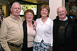 Frankie Smith, Betty Clynch, Eileen Smith and Jimmy Clynch in the Riverhouse..Photo NEWSFILE/Jenny Matthews.(Photo credit should read Jenny Matthews/NEWSFILE)....This Picture has been sent you under the condtions enclosed by:.Newsfile Ltd..The Studio,.Millmount Abbey,.Drogheda,.Co Meath..Ireland..Tel: +353(0)41-9871240.Fax: +353(0)41-9871260.GSM: +353(0)86-2500958.email: pictures@newsfile.ie.www.newsfile.ie.FTP: 193.120.102.198.