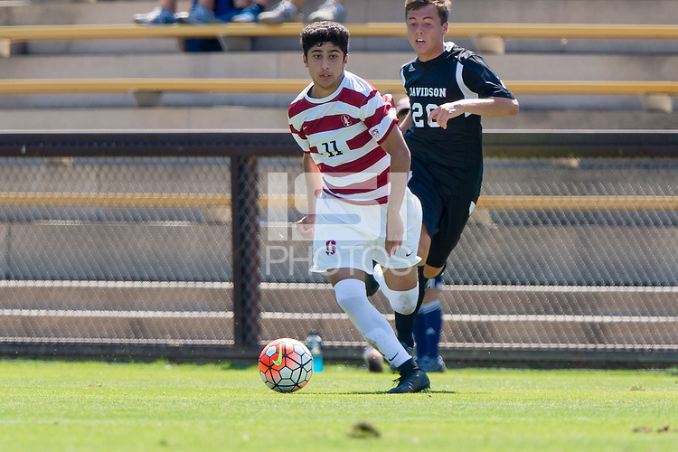 Stanford, CA - September 20, 2015: Amir Bashti during the Stanford vs Davidson men's soccer match in Stanford, California.  The Cardinal defeated the Wildcats 1-0 in overtime.