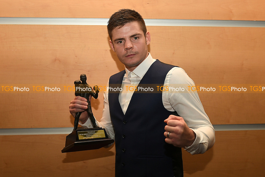 Dave Ryan receives Best Bout Award during the British Boxing Board of Control Awards 2015 at the Novotel London West, Hammersmith, London on 25/09/2015