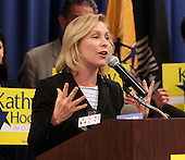 New York State Senator Kirsten Gillibrand speaks to the crowd at a rally for Democratic candidate Kathy Hochul at UAW Union Hall on May 21, 2011 in Amherst, New York.  Hochul is running for the House of Representatives, NY-26th, in a special election to replace disgraced former Congressman Christopher Lee who abruptly resigned after a sex scandal.  Photo By Mike Janes/Four Seam Images