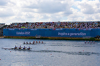 28.07.2012 Dorney Lake, England. General Views from day 1 of the Olympic Regatta.
