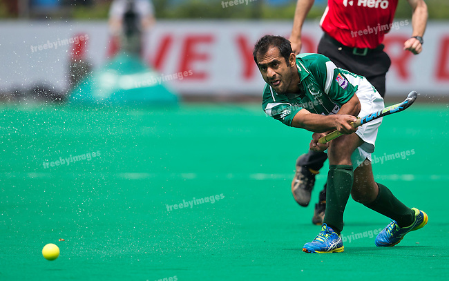 28/06/2015<br /> HWL Semi Final Antwerp Belgium 2015<br /> Pakistan v France Men<br /> Rashid Mehmood<br /> Photo: Grant Treeby