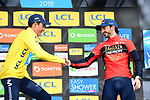 Marc Soler (ESP) Movistar Team the overall title by 4&quot; with Gorka Izagirre (ESP) Bahrain-Merida in 3rd place at the end of Stage 8 of the 2018 Paris-Nice running 110km from Nice to Nice, France. 11th March 2018.<br /> Picture: ASO/Alex Broadway | Cyclefile<br /> <br /> <br /> All photos usage must carry mandatory copyright credit (&copy; Cyclefile | ASO/Alex Broadway)
