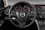 Steering wheel view of a 2011 Mazda 6 Active Wagon