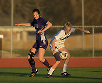 NWA Democrat-Gazette/BEN GOFF @NWABENGOFF<br /> Bentonville vs Fayetteville soccer Tuesday, March 13, 2018, during the match at Bentonville's Tiger Athletic Complex.