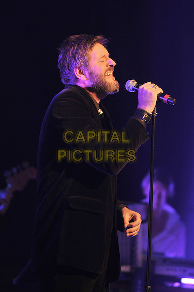 Green Gartside.British Electric Foundation (B.E.F) at the Roundhouse, Camden, London, England..15th October 2011.performing performance live in stage on concert music gig half length black suit jacket beard facial hair side profile singing .CAP/MAR.© Martin Harris/Capital Pictures.