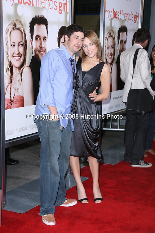 "Jason Biggs and Jenny Mollen arriving at the Premiere of ""My Best Friend's Girl""  at the ArcLight Theater in Los Angeles,  CA on.September 15, 2008.©2008 Hutchins Photo...."
