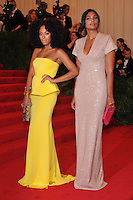Solange Knowles and Rachel Roy at the 'Schiaparelli And Prada: Impossible Conversations' Costume Institute Gala at the Metropolitan Museum of Art on May 7, 2012 in New York City. © mpi03/MediaPunch Inc.