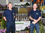 Ross and Ken McMahon from McMahon Landscapes pictured at the Enterprise day in Ardee parish centre. Photo:Colin Bell/pressphotos.ie
