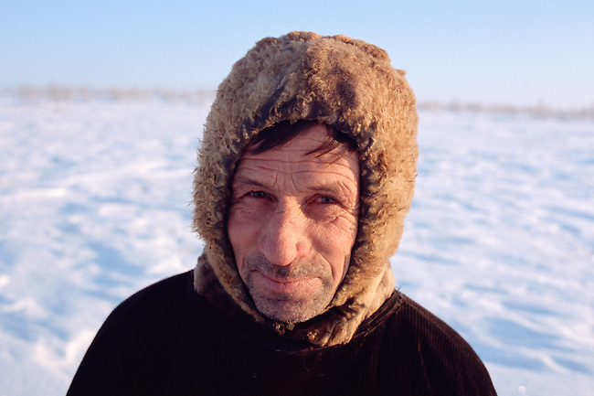 Vassily Selivanov, a Sami reindeer herder from Lovozero, Murmansk, NW Russia