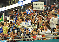 07.08.2013.Miami, Florida, USA.   Real Madrid Fans   during the second half of the  the final of the Guinness International Champions Cup between Real madrid and Chelsea. The game was won by a score of 3-1 by Real Madrid with Ronaldo scoring a brace.