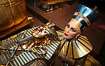 Gloria Gray as 'Lady Pharaoh' visits 'The Discovery King Tut'