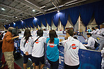 Japan team group (JPN),<br /> AUGUST 11, 2013 - Fencing :<br /> World Fencing Championships Budapest 2013, Women's Team Epee Round of 32 at Syma Hall in Budapest, Hungary. (Photo by Enrico Calderoni/AFLO SPORT) [0391]