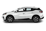 Car Driver side profile view of a 2020 Nissan Murano SV 5 Door SUV Side View