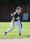 Los Altos Little League Softball AAA division Yankees vs Royals at Egan School, April 20, 2013.