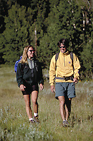 Steve Holmes (MR496) & Holly Issacson (MR431) hiking, Summit County, CO. Steve Holmes (MR496) & Holly Issacson (MR431). Summit County, Colorado.