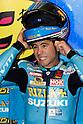 June 24, 2010 - Assen, Holland - Rizla Suzuki MotoGP Team's Spanish Alvaro Bautista is pictured in his pit during the Dutch Grand Prix at Assen, Holland, on June 24, 2010. (Photo Andrew Northcott/Nippon News)