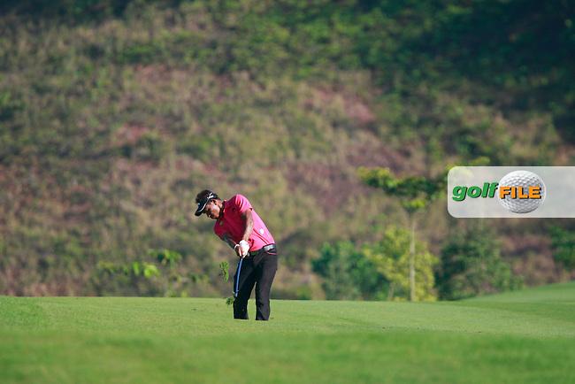 Thongchai Jaidee (THA) plays his 2nd shot on the 14th hole during Thursday's Round 1 of the 2011 Iskandar Johor Open, Horizon Hills Golf Club, Johor, Malaysia, 15th November 2011 (Photo Eoin Clarke/www.golffile.ie)