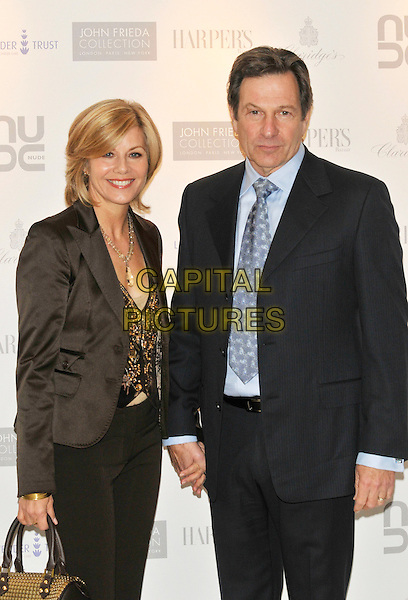 GLYNIS BARBER, MICHAEL BRANDON.10th Anniversary Party of the Lavender Trust at Breast Cancer Care, .Claridges Hotel, London, England, UK.1st May 2008..half length blue tie shirt suit holding hands black jacket.CAP/PL.©Phil Loftus/Capital Pictures
