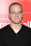 Matt Damon backstage at TimesTalks at the Times Center in New York City. November 27, 2012.