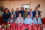 Kerry County Cricket awards night held in Castle Street, Tralee on Saturday night last were front l-r: Craig Bainbridge, Ian Brick, Sean Mullins and Dave Ramsey. Back l-r: Muhammad Kamaran, Shahzaib Saghir, Brian Hehir, Kurt Paget, Omid Wzari, Richard Rutland and Jaen Roux.