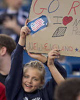 New England Revolution Fan. In a Major League Soccer (MLS) match, the Los Angeles Galaxy defeated the New England Revolution, 1-0, at Gillette Stadium on May 28, 2011.