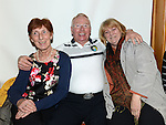 Bernie Boardman, Brendan Reenan and Ann Smithers pictured at the Ceilí and set dancing weekend at An Grianán. Photo:Colin Bell/pressphotos.ie