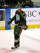 February 24th 2008:  Benoit Pouliot (27) of the Houston Aeros skates up ice during a timeout vs. the Rochester Amerks at Blue Cross Arena at the War Memorial in Rochester, NY.  The Aeros defeated the Amerks 4-0.   Photo copyright Mike Janes Photography 2008