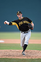 Pittsburgh Pirates pitcher Sam Street (45) during a minor league spring training game against the Toronto Blue Jays on March 26, 2015 at Pirate City in Bradenton, Florida.  (Mike Janes/Four Seam Images)