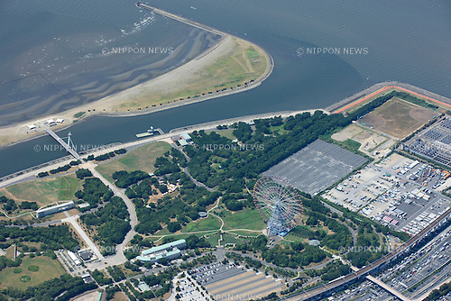 Kasai Seaside Park: Tokyo, Japan: Aerial view of proposed venue for the 2020 Summer Olympic Games. (Photo by AFLO)