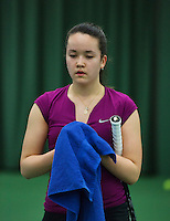 Rotterdam, The Netherlands, 07.03.2014. NOJK ,National Indoor Juniors Championships of 2014, 12and 16 years, Liza Lebedzeva (NED)<br /> Photo:Tennisimages/Henk Koster